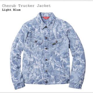 シュプリーム(Supreme)のsupreme cherub trucker jacket M blue(Gジャン/デニムジャケット)