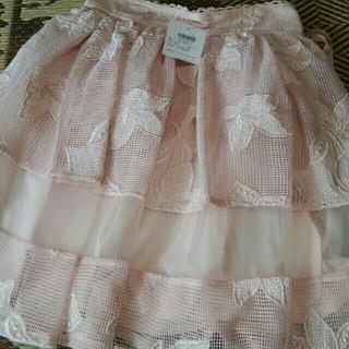 リズリサ(LIZ LISA)のタグつき フレアスカート(ひざ丈スカート)