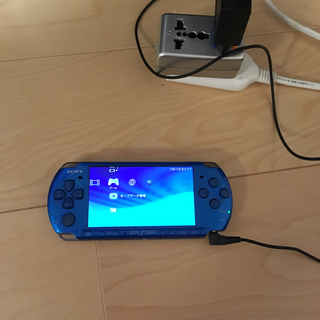 プレイステーションポータブル(PlayStation Portable)のPSP ブルー(携帯用ゲーム本体)