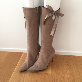ダイアナ(DIANA)のDIANA☆ロングブーツ 21.5 グレージュ 貴重サイズ(ブーツ)