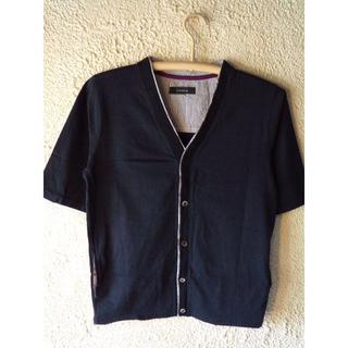 レイジブルー(RAGEBLUE)の1410 レイジブルー 美品 五分袖 カーディガン tシャツ ポケット付き(カーディガン)