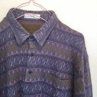 Santa Monica - 古着 70〜80s 幾何学模様 ポロシャツ