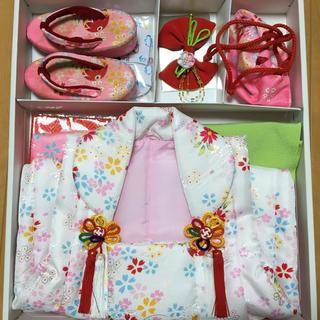 七五三 被布 祝着セット 3歳 女の子用(和服/着物)