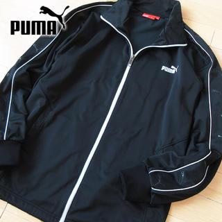 プーマ(PUMA)の超美品 Lサイズ PUMA プーマ ロゴスリーブジャージ/ジャケット ブラック(ジャージ)