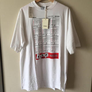 [確実正規品]vetements calender t shirt