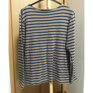 ムジルシリョウヒン(MUJI (無印良品))のボーダーカットソー size M(Tシャツ/カットソー(七分/長袖))
