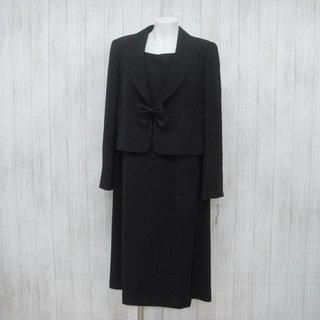 ★ブラックフォーマル 3点セット  17号  ジャケット2枚 大きいサイズ(礼服/喪服)