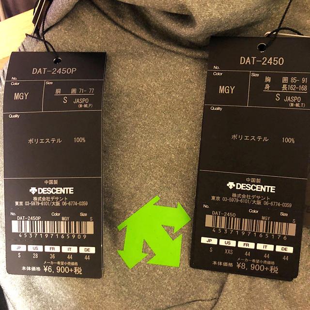 DESCENTE(デサント)の【新品】DESCENTE ジャージ グレー 上下 セット Sサイズ メンズのトップス(ジャージ)の商品写真