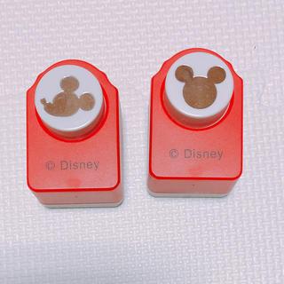 ディズニー(Disney)のミッキー穴あけパンチ★2個セット(その他)