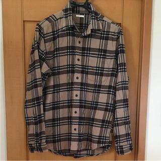 GU - GU チェック ネルシャツ メンズ L