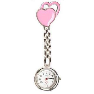 MC076 ハートナースウォッチ クリップ式逆さ文字盤ピンク(腕時計)