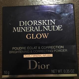 ディオール(Dior)のDIor ミネラルヌード GLOW 01 コーラルキス(フェイスパウダー)