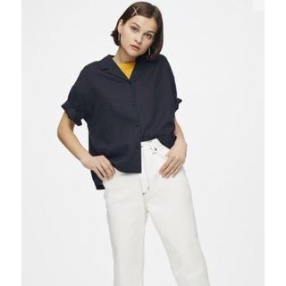 ジーユー(GU)の2018ss GU  リネンブレンドオープンカラーシャツ 開襟シャツ(シャツ/ブラウス(半袖/袖なし))