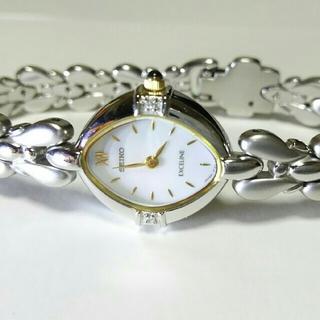 セイコー(SEIKO)のセイコー エクセリーヌ 2Pダイヤ 美品(腕時計)