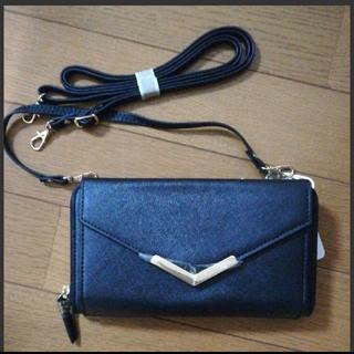 シマムラ(しまむら)の新品未使用 しまむら お財布ショルダー 長財布 黒色(財布)