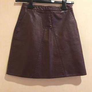 ザラ(ZARA)のZARA*膝上 台形スカート(ミニスカート)