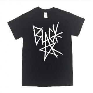 BLACK ロゴ 半袖 Tシャツ git32(Tシャツ/カットソー(半袖/袖なし))