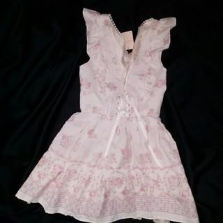 リズリサ(LIZ LISA)のLIZ LISA 花柄 ワンピース ♡ NO. 141-6040-0 ピンク(ひざ丈ワンピース)