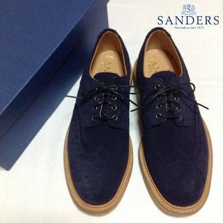サンダース(SANDERS)の新品■SANDER'S■定番■レザーシューズ■スエード■青■OLLY■4147(ドレス/ビジネス)
