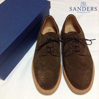 サンダース(SANDERS)の新品■SANDER'S■定番■レザーシューズ■スエード■茶色■OLLY■4148(ドレス/ビジネス)
