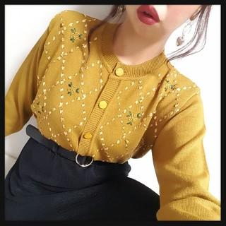 値下げ可♥*Vintageフラワー&りぼん刺繍ニット♥(ニット/セーター)