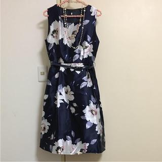 GRACE CONTINENTAL - インポート  フォーマル ドレス ワンピース フラワー柄 花柄 ネイビー