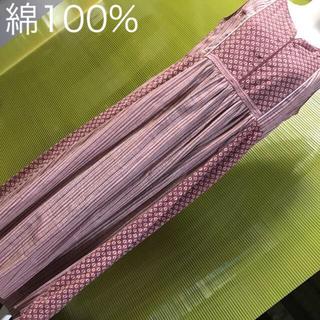 マライカ(MALAIKA)の新品】マライカ 天然色素で染めたブロックプリントのノースリワンピ 赤茶(ロングワンピース/マキシワンピース)