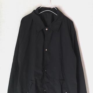 ジーユー(GU)のコーチジャケット GU メンズXL オーバーサイズ 黒(ナイロンジャケット)