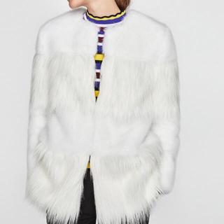 ザラ(ZARA)のファーコート(毛皮/ファーコート)