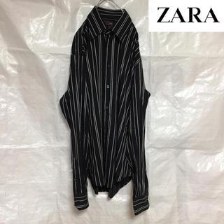 ザラ(ZARA)のZARA 長袖ストライプ シャツ(シャツ)
