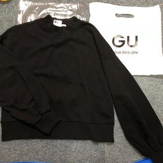 ジーユー(GU)のGU black スウェット 黒 シンプル(トレーナー/スウェット)