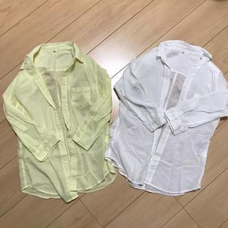 シマムラ(しまむら)のシャツ☆しまむら 未使用‼︎ 2枚セット(シャツ/ブラウス(長袖/七分))