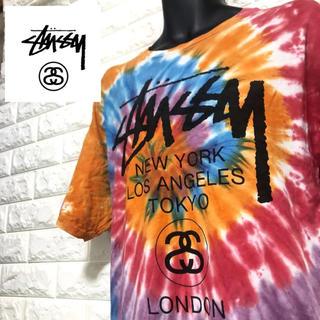 ステューシー(STUSSY)のSTUSSY ワールドツアーTシャツ タイダイver.(Tシャツ/カットソー(半袖/袖なし))