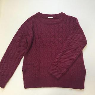 GU - GU ジーユー ケーブル セーター Sサイズ★ワイン