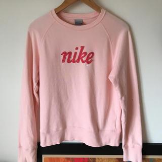 ナイキ(NIKE)のNIKE シルバータグ vintage トレーナー ピンク(トレーナー/スウェット)