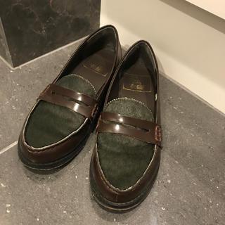 フリークスストア(FREAK'S STORE)のFREAK'S STORE ローファー  ブラウン♡ハラコ(ローファー/革靴)