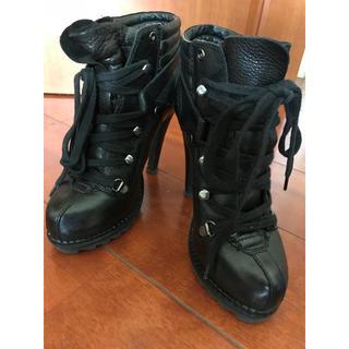 アッシュ(ASH)のASH ショートブーツ 36センチ ブーツ ヒール ブラック(ブーツ)