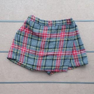 ジーユー(GU)のGUジーユーチェック柄スカート風ショートパンツ(パンツ/スパッツ)