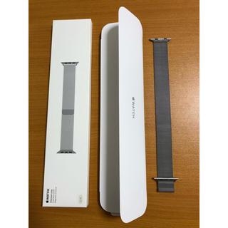 アップルウォッチ(Apple Watch)のapple watch 42・44mmミラネーゼループ シルバー 純正(金属ベルト)