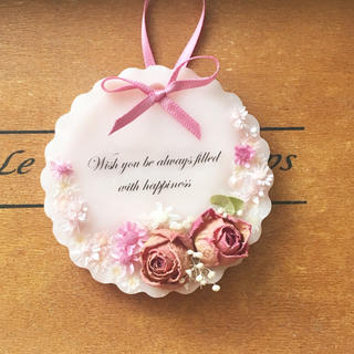 mini plate rose ※アロマワックスサシェ