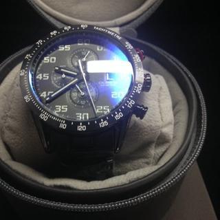 タグホイヤー(TAG Heuer)のタグホイヤー メンズ腕時計 金属ベルト  黒文字盤 機械(金属ベルト)