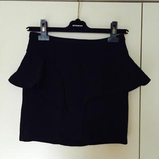 ザラ(ZARA)の未着用 ZARAペプラム ミニスカート ブラック S(ミニスカート)
