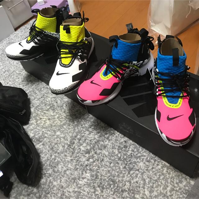 NIKE(ナイキ)のNIKE プレスト アクロニウム  ピンク マルチ メンズの靴/シューズ(スニーカー)の商品写真
