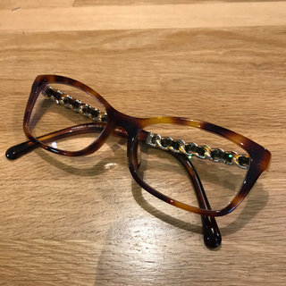 CHANEL - 超美品 シャネル  伊達 メガネ 眼鏡 べっ甲 チェーン ブラウン サングラス