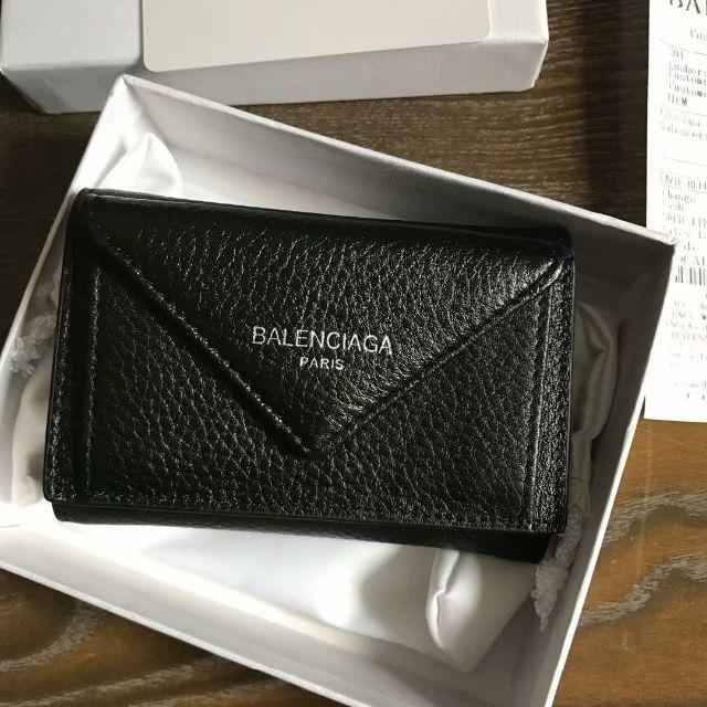 brand new 6d0d6 1c8f2 バレンシアガ ペーパーミニウォレット 財布 黒 | フリマアプリ ラクマ