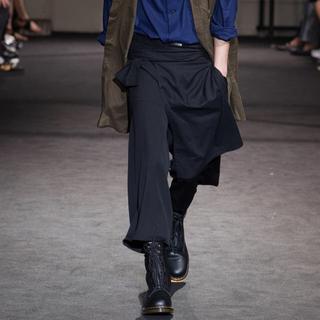 Yohji Yamamoto - yohji yamamoto 17ss look23 腰巻 左前垂らしパンツ