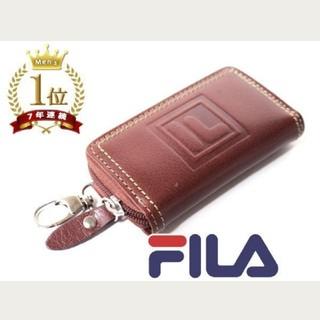 フィラ(FILA)のFILA 水牛革バッファローレザー スマートキーケース/ラウンドファスナー(キーケース)