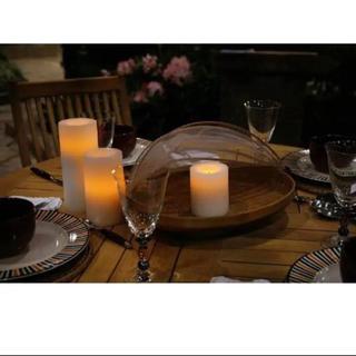ムジルシリョウヒン(MUJI (無印良品))のキャンドル ライト 2本セット 照明 テーブルライト ろうそく(キャンドル)