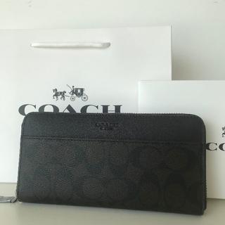 COACH - 【新品・セール】F75000 ブラウン ラウンドファスナー長財布
