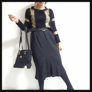値下げ可♥*裾フリルモード系スカート♥*(ひざ丈スカート)